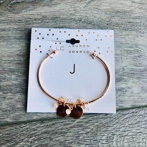 "NWT LC Lauren Conrad ""J"" Bracelet"